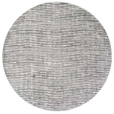 Sherill Grey 7 ft. 6 in. x 7 ft. 6 in. Round Area Rug