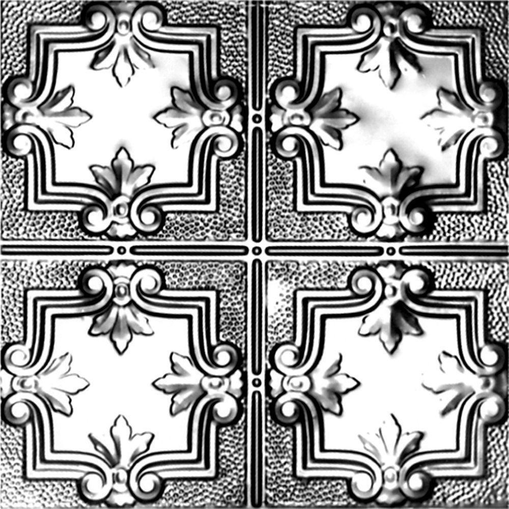 VILAC 2 ft. x 2 ft. Lay-in Suspended Grid Tin Ceiling Til...