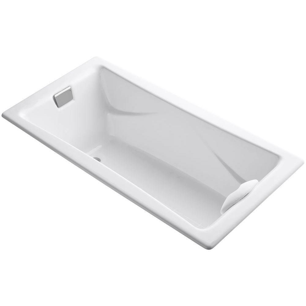 KOHLER Tea-for-Two 6 ft. Reversible Drain Bathtub in White