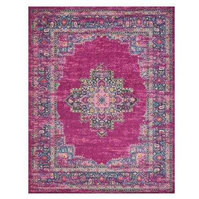Passion Fuchsia 6 ft. 7 in. x 9 ft. 6 in. Area Rug