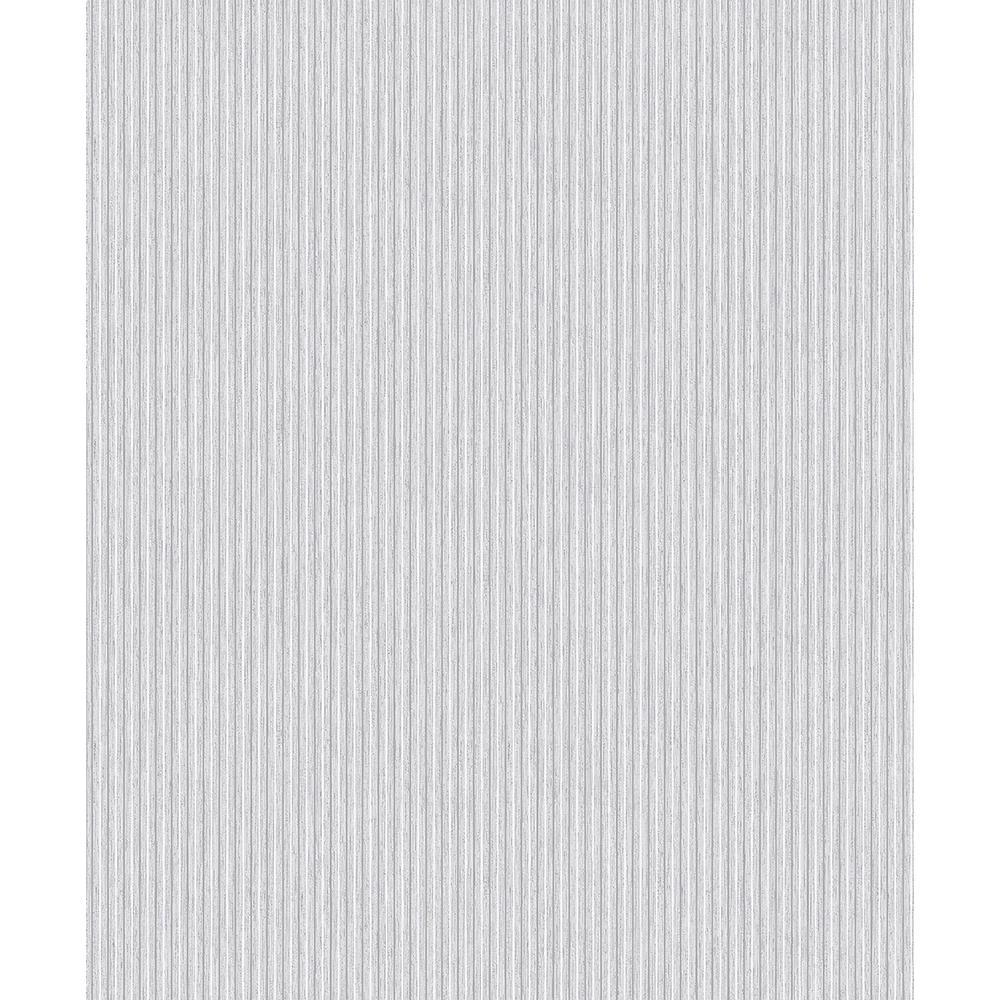 Advantage 8 in. x 10 in. Lily Taupe Stripe Wallpaper Sample