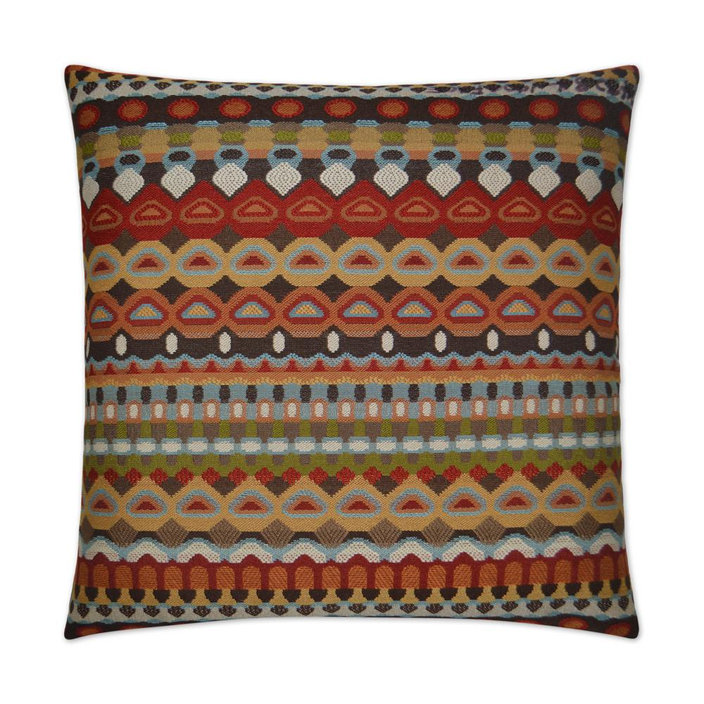 Da Bomb Carmine Feather Down 24 in. x 24 in. Standard Decorative Throw  Pillow