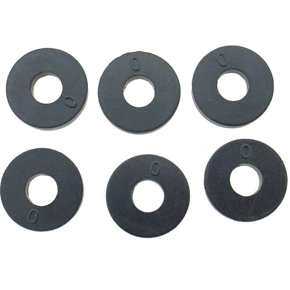 17/32 in. O.D. (0 Trade Size) Flat Faucet Washers (6-Pack)