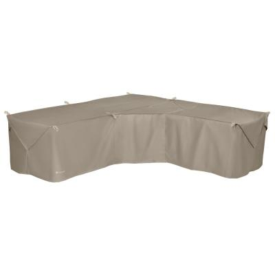Storigami 100 in. L x 100 in. W x 31 in. H Goat Tan Easy Fold V-Shaped Sectional Cover