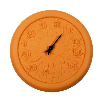 12 in. Terra Cotta Thermometer