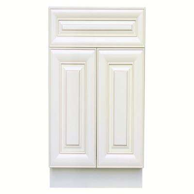 Ready to Assemble Holden 36 in. W x 21 in. D x 34.5 in. H Vanity Cabinet with 2 Doors in Antique White