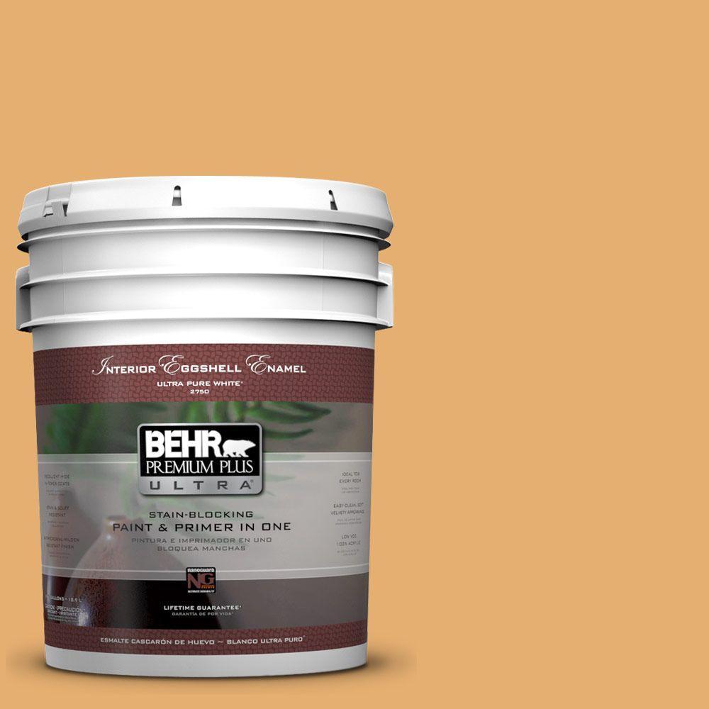 BEHR Premium Plus Ultra 5-gal. #M260-5 Mac N Cheese Eggshell Enamel Interior Paint