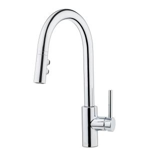 Stellen Single-Handle Pull-Down Sprayer Kitchen Faucet in Polished Chrome