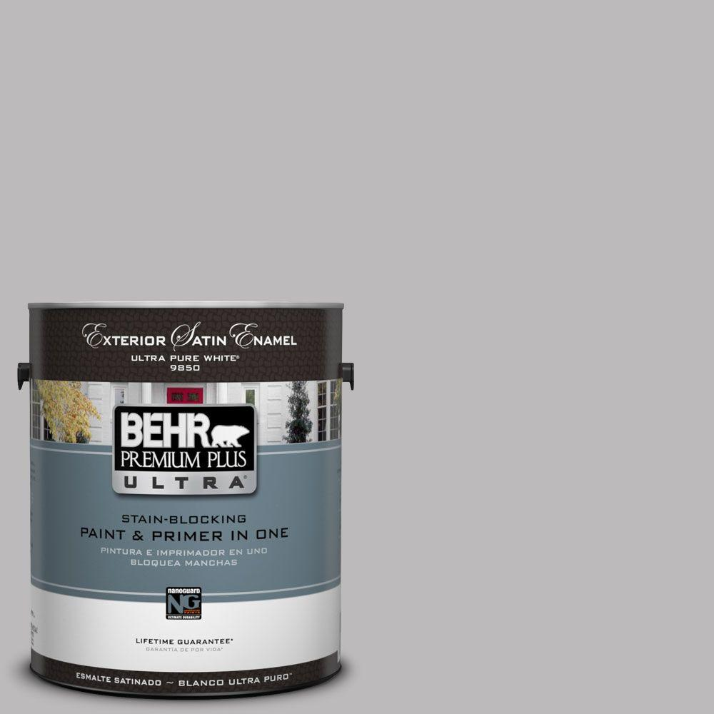 BEHR Premium Plus Ultra 1-Gal. #UL250-10 Grape Creme Satin Enamel Exterior Paint