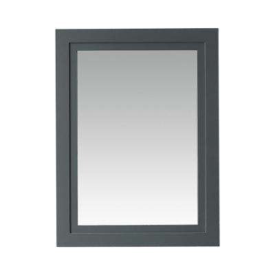 Lynn 24 in. x 32 in. Framed Mirror in School House Slate