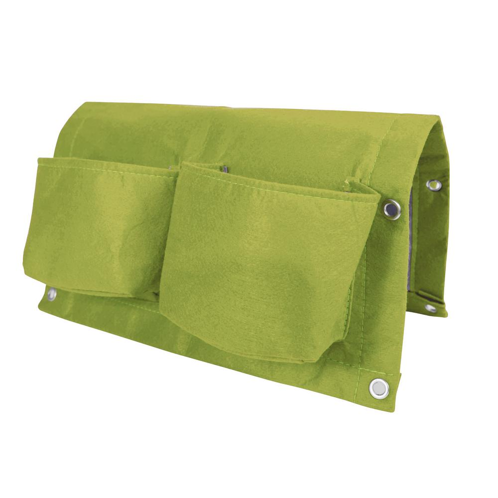 Bloem Bloembagz Deck Rail 4 Pocket Hanging Planter Bag Honey Dew