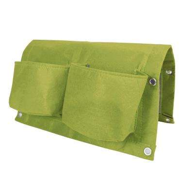BloemBagz Deck Rail 4-Pocket Hanging Planter Bag  Honey Dew