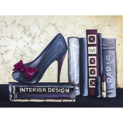 """36 in. x 48 in. """"Designers Glory"""" by Jade Printed and Painted Canvas Wall Art"""