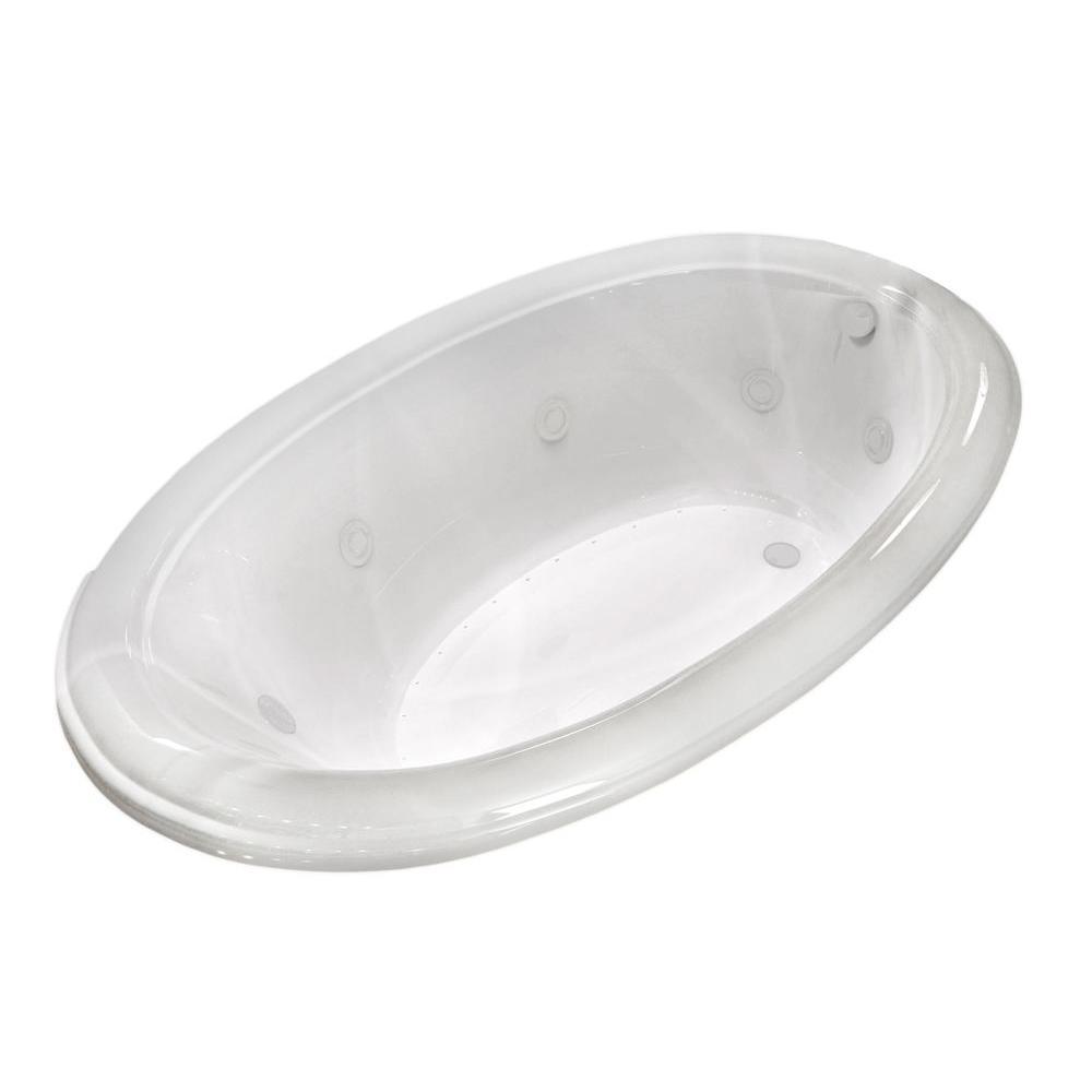 Universal Tubs Topaz Diamond Series 78 In. Oval Drop-in