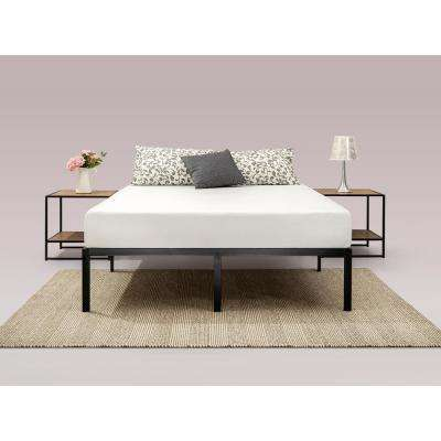 Yelena 14 Inch Classic Metal Platform Bed Frame with Steel Slat Support, Queen