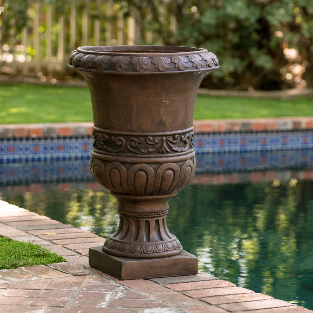 Brown Turkish 26-inch Urn Planter