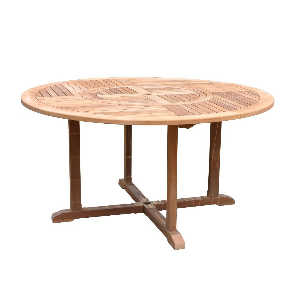 Courtyard Casual Burma Collection Teak Outdoor Round Dining Table