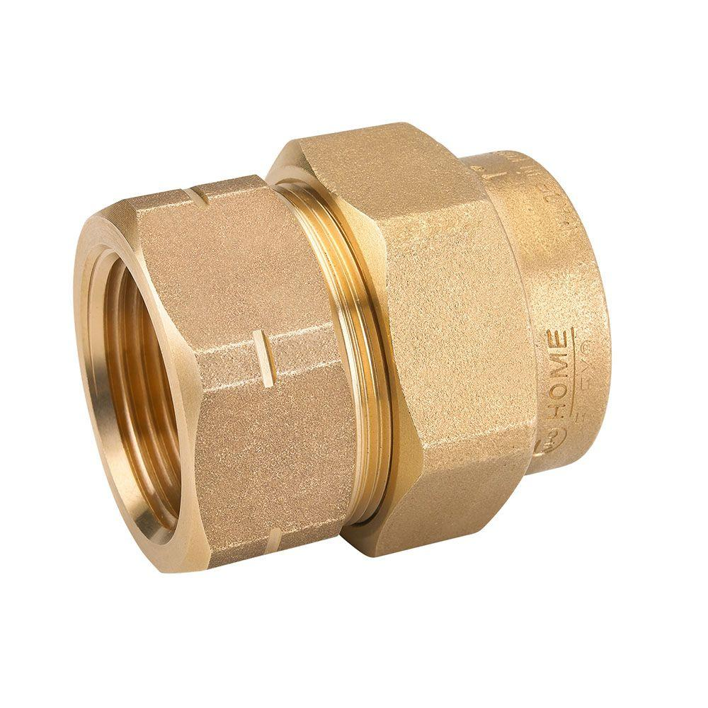 Home flex 1 in brass csst x fipt female adapter 11 435 for 11 435