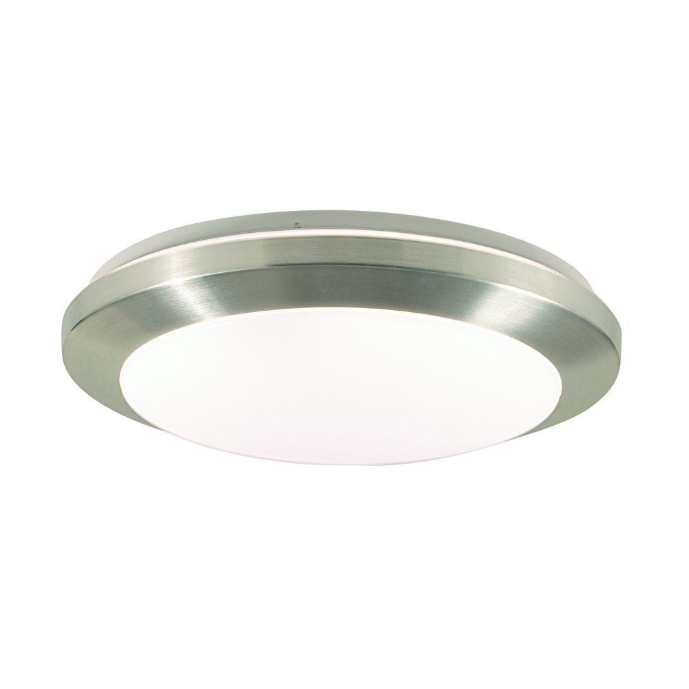 Eurofase Lucid Collection 1-Light Satin Nickel/Chrome Flushmount