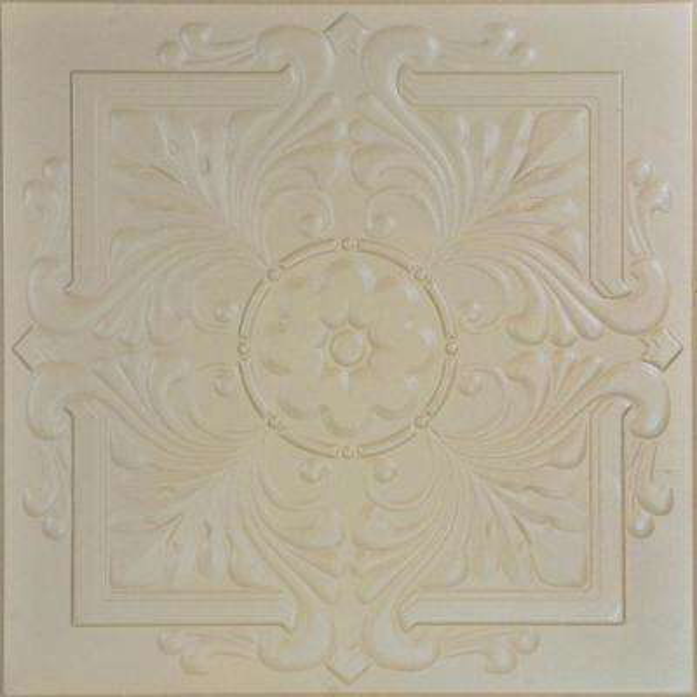 Victorian 1.6 ft. x 1.6 ft. Foam Glue-up Ceiling Tile in Lenox Tan