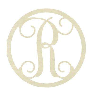 19 in. Unfinished Single Circle Monogram