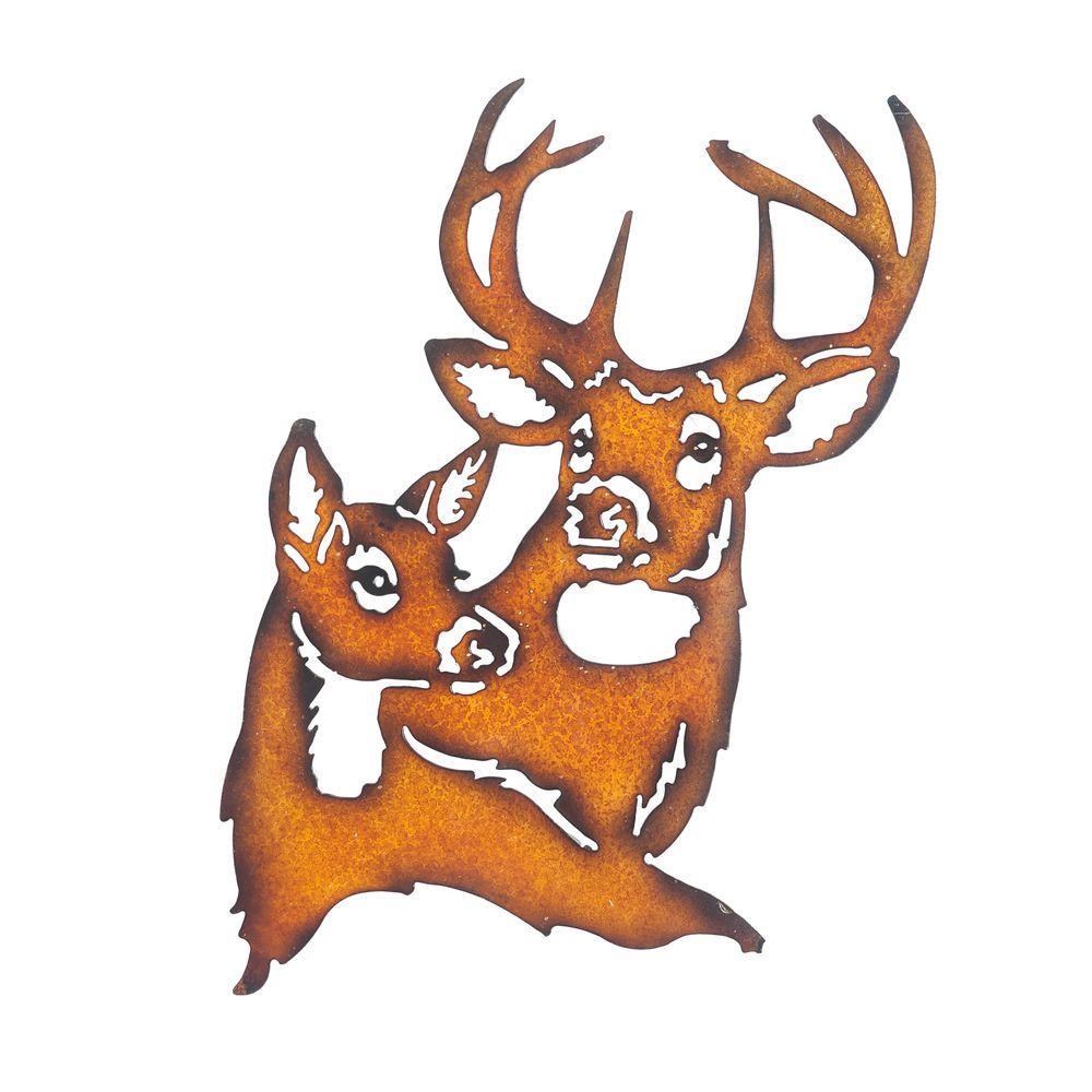 Sunjoy Deer Metal Outdoor Wall Art