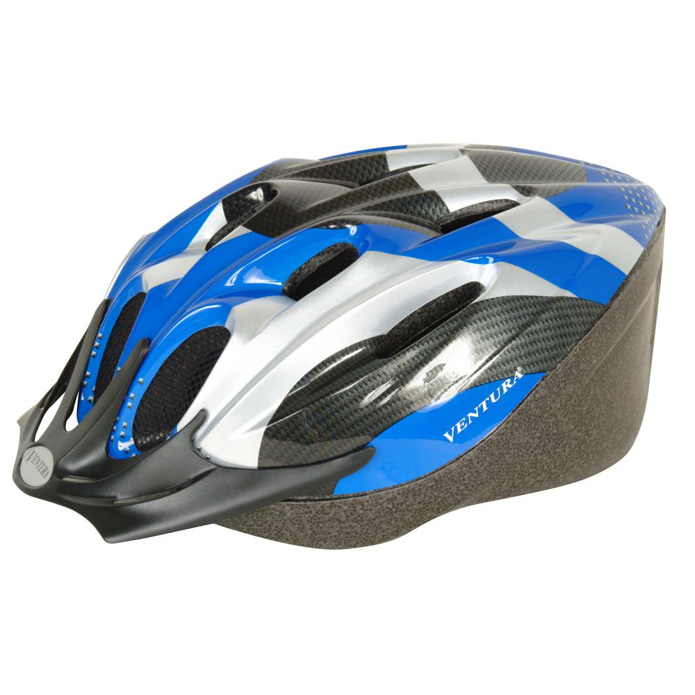 Carbon Microshell Large Bicycle Helmet in Blue