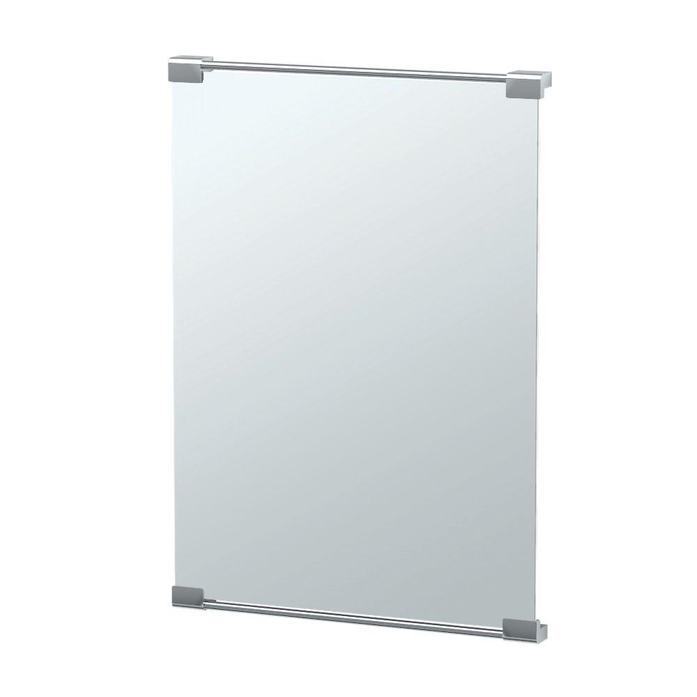 Gatco landscape mirror 22 in x 30 in framed single wall mounted gatco landscape mirror 22 in x 30 in framed single wall mounted in chrome 1521 the home depot amipublicfo Gallery