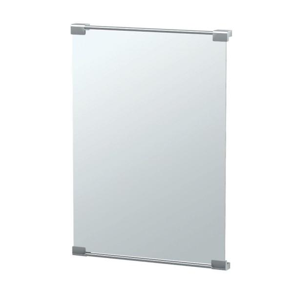 Fixed Mount Decor Mirror 22 in. x 30 in. Framed Single Wall Mounted in Chrome