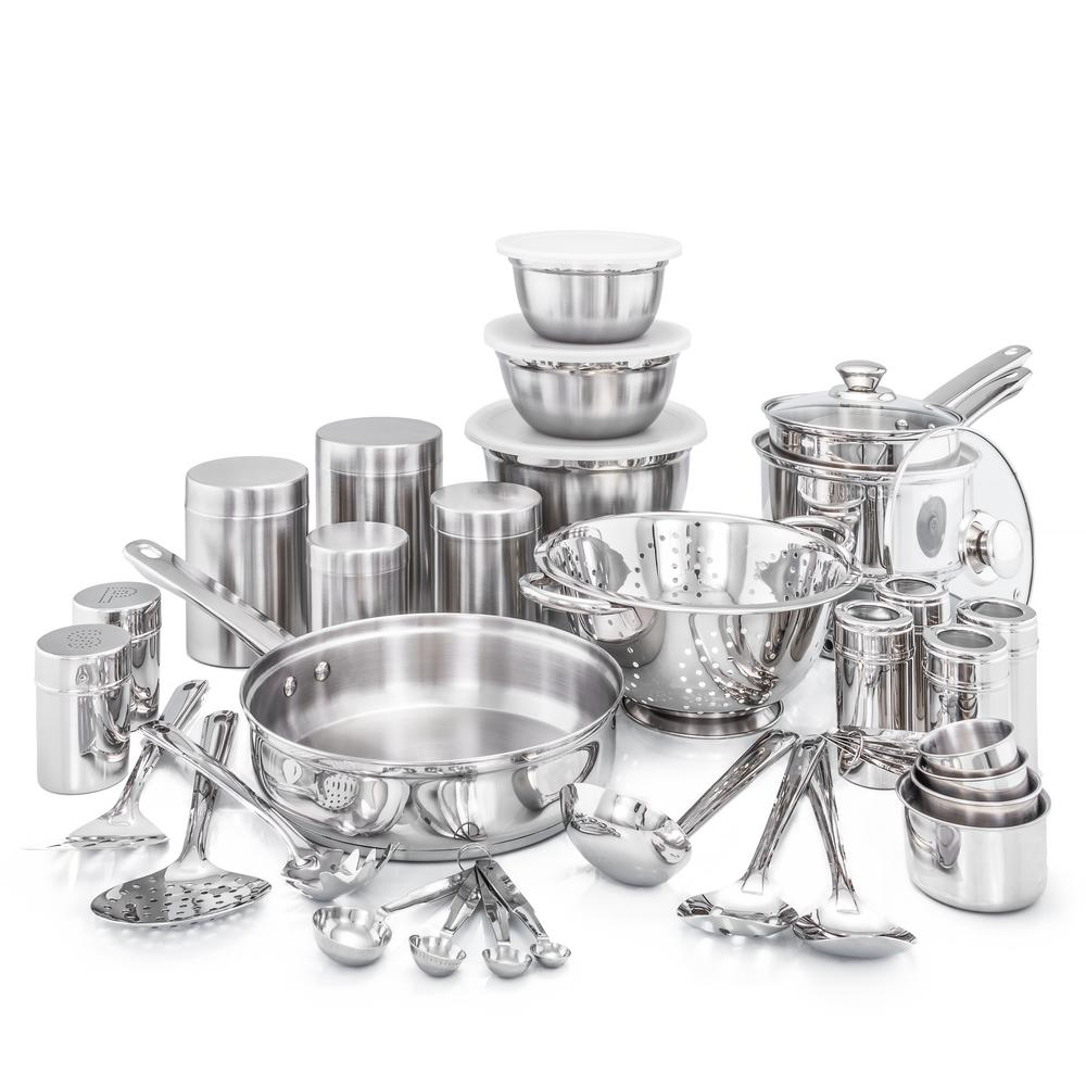 Old Dutch 36-Piece Kitchen In A Box Stainless Steel