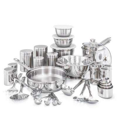36-Piece Kitchen in a Box Stainless Steel Cookware Set
