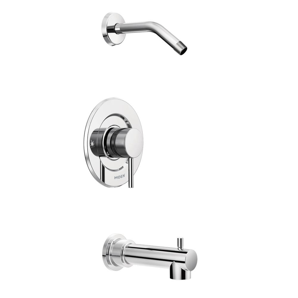 MOEN Align Moentrol 1-Handle Tub and Shower Faucet Trim Kit in Chrome (Valve and Shower Head Not Included)