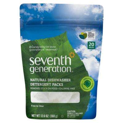 12.6 oz. Natural Dishwashing Detergent Packs (20-Tabs/Bag)