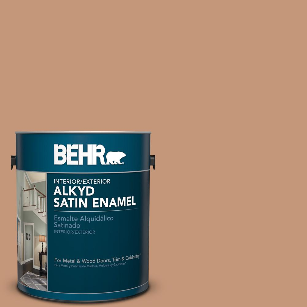 1 gal. #HDC-AC-02 Copper Moon Satin Enamel Alkyd Interior/Exterior Paint