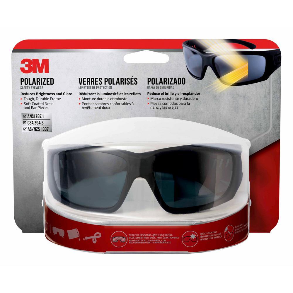 6abaa9b9f0a 3M Safety Eyewear Polarized Glasses with Black Frame