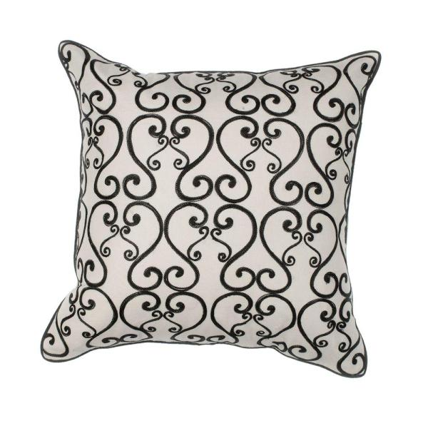 Kas Rugs St Lucia White Black Decorative Pillow Pill12018sq The