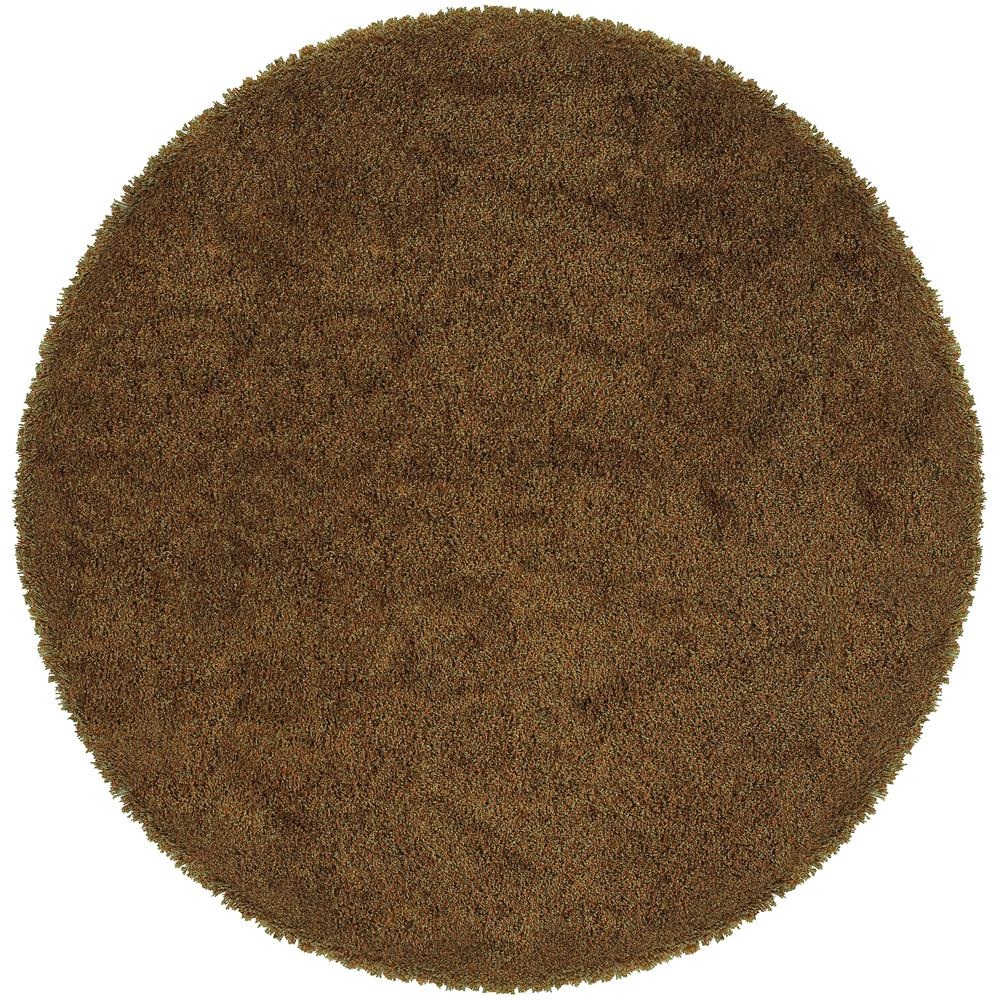 Home Decorators Collection Urban Loft Rust Gold 8 ft. x 8 ft. Round Area Rug