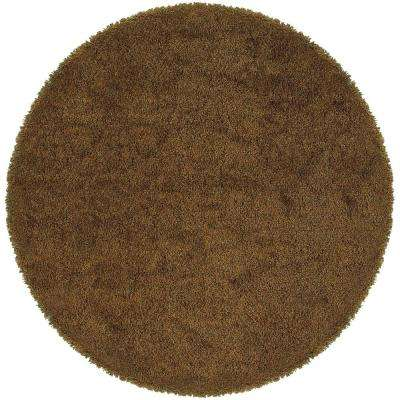 Urban Loft Rust Gold 8 ft. x 8 ft. Round Area Rug