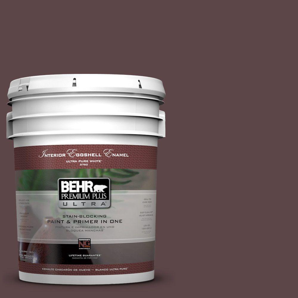BEHR Premium Plus Ultra 5-gal. #BNC-31 Mahogany Spice Eggshell Enamel Interior Paint