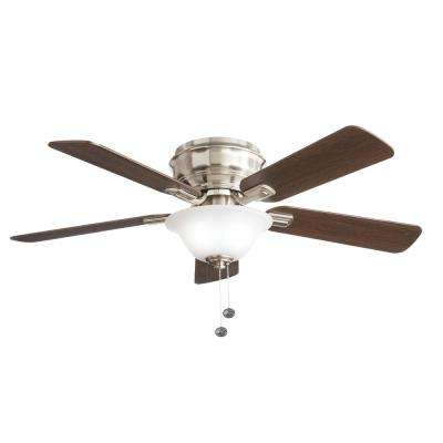 Hawkins 44 in. LED Brushed Nickel Ceiling Fan with Light