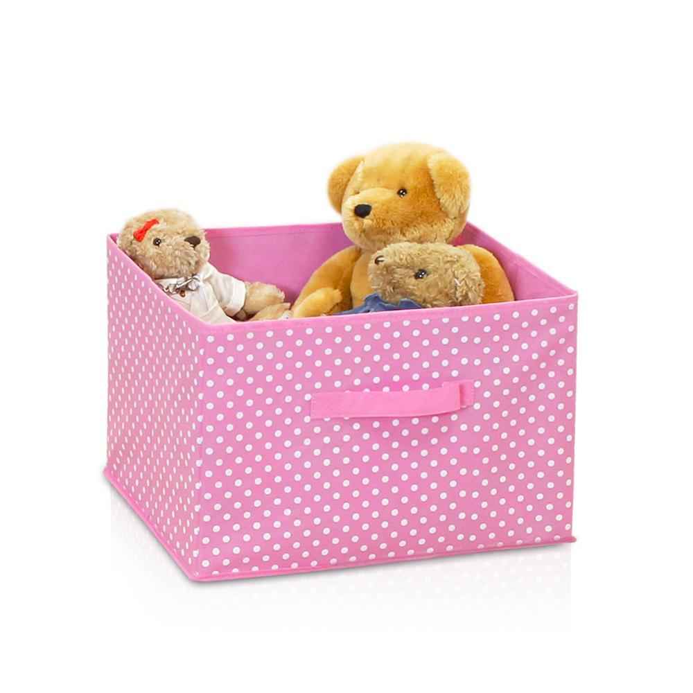 Laci Small Dot Pink Fabric Soft Storage Organizer