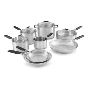 Calphalon Select 12-Piece Stainless Steel Cookware Set by Calphalon