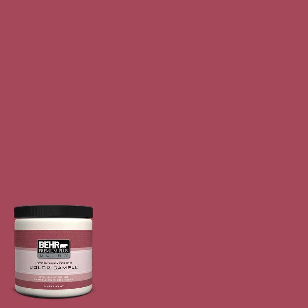 BEHR Premium Plus Ultra 8 oz. #130D-6 Sweet Spiceberry Matte Interior/Exterior Paint and Primer in One Sample