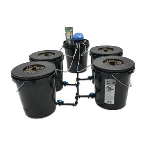 Viagrow Hydroponic Black Bucket Deep Water System (4-Pack) by Viagrow