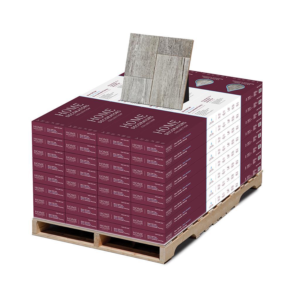 Silver Cliff Oak 12 mm T x 7.48 in. W x 50.67 in. L Water Resistant Laminate Flooring (589.44 sq. ft./pallet)