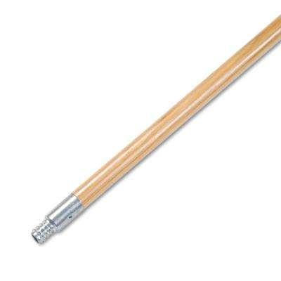 15/16 in. Dia x 60 in. L Metal Tip Threaded Hardwood Broom Handle