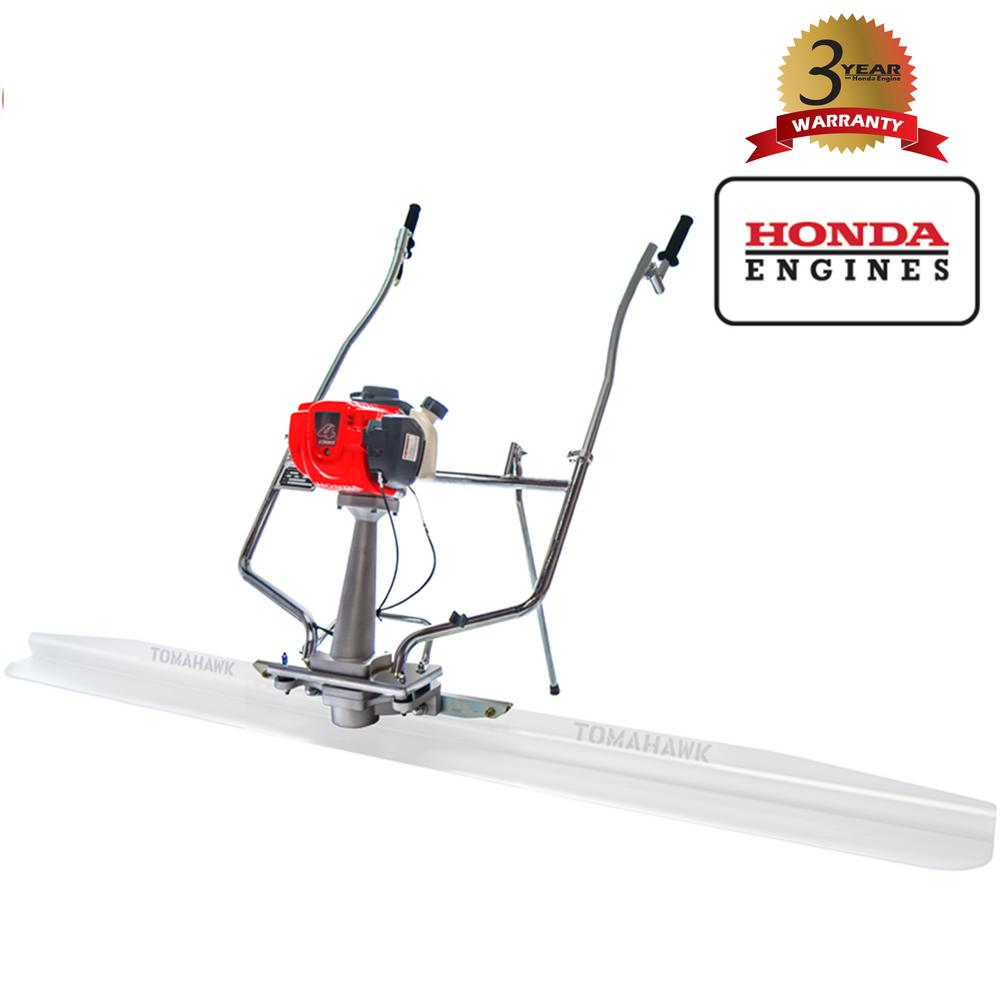 Tomahawk Power 1.6 HP Honda Gas Vibratory Concrete Power Screed Unit with 360° Handles