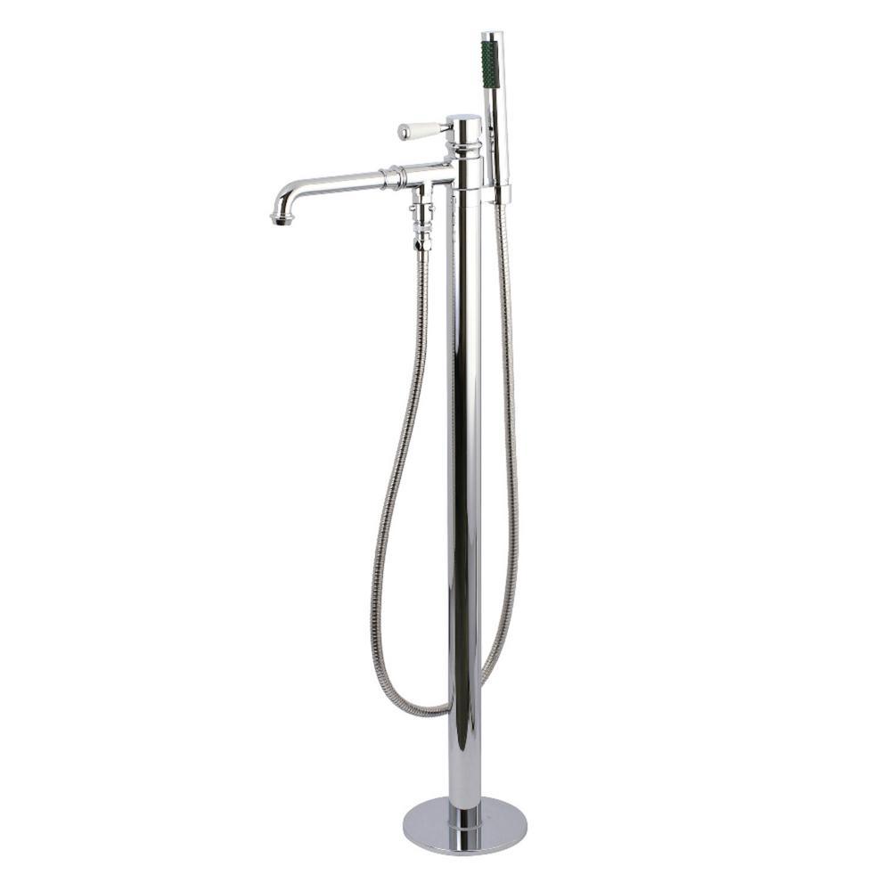 Paris Single-Handle Floor-Mount Roman Tub Faucet with Hand Shower in Chrome