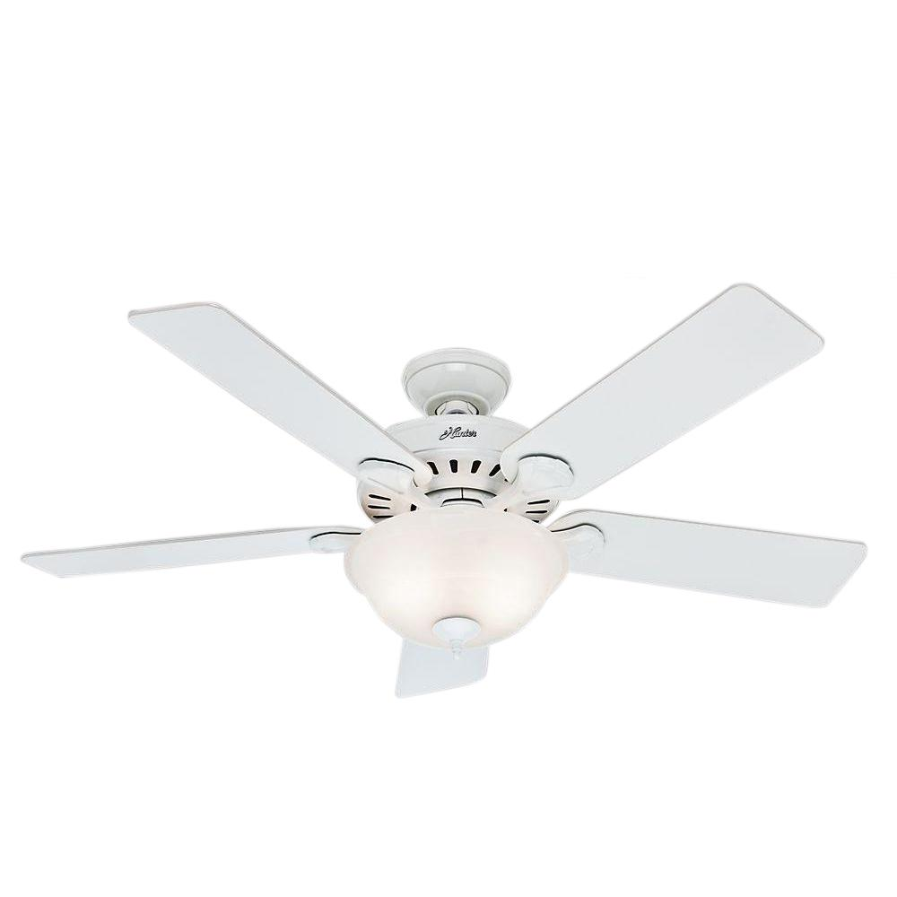Phenomenal Hunter Pros Best Five Minute 52 In Indoor White Ceiling Fan With Light Kit Bundled With Handheld Remote Control Download Free Architecture Designs Photstoregrimeyleaguecom