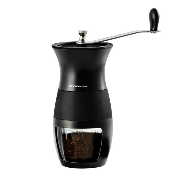 Ovente 4.1 oz. Black Stainless Steel Burr Coffee Grinder-CGM130B - The Home Depot